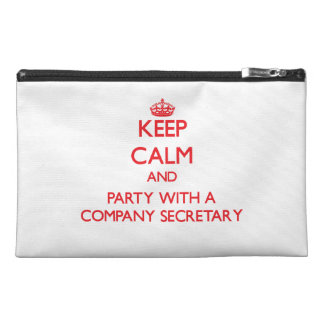 Keep Calm and Party With a Company Secretary Travel Accessories Bags