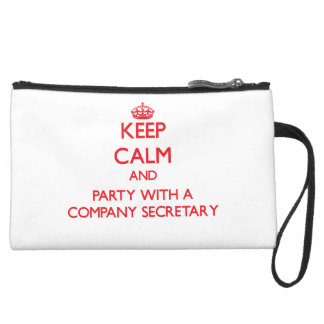 Keep Calm and Party With a Company Secretary Wristlet Clutch