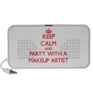 Keep Calm and Party With a Makeup Artist Laptop Speakers