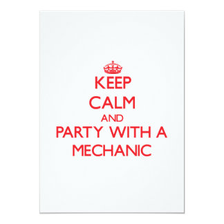Keep Calm and Party With a Mechanic Personalized Invites