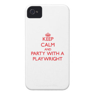 Keep Calm and Party With a Playwright iPhone 4 Case