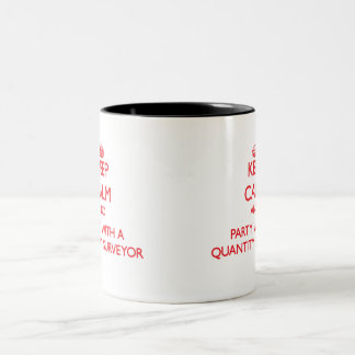 Keep Calm and Party With a Quantity Surveyor Two-Tone Coffee Mug