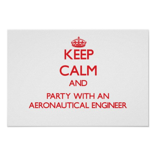 Keep Calm and Party With an Aeronautical Engineer Print