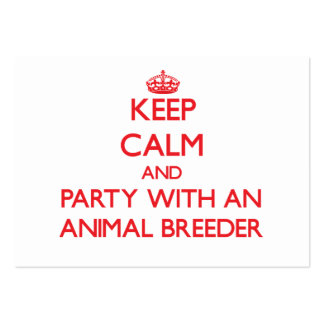 Keep Calm and Party With an Animal Breeder Business Card Templates