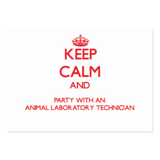 Keep Calm and Party With an Animal Laboratory Tech Business Cards