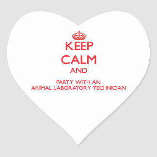 Keep Calm and Party With an Animal Laboratory Tech Sticker