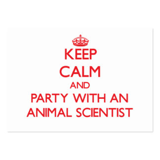 Keep Calm and Party With an Animal Scientist Business Cards