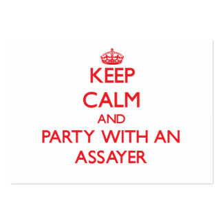 Keep Calm and Party With an Assayer Business Card Templates