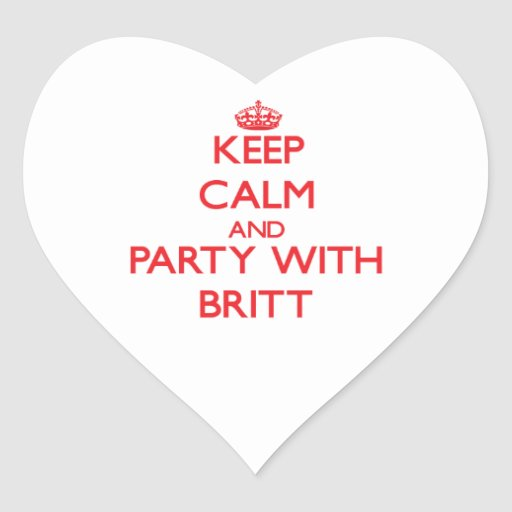 Keep calm and Party with Britt Sticker