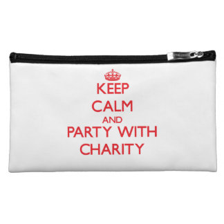 Keep Calm and Party with Charity Cosmetic Bag