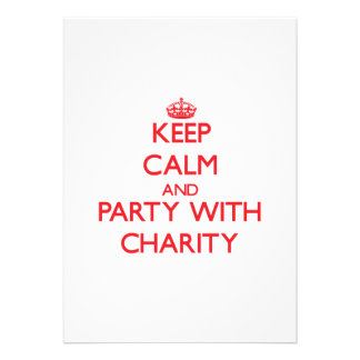 Keep Calm and Party with Charity Custom Invite
