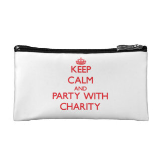 Keep Calm and Party with Charity Makeup Bags