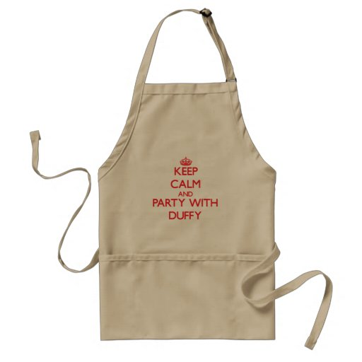 Keep calm and Party with Duffy Apron