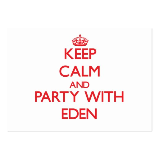 Keep Calm and Party with Eden Business Card Template