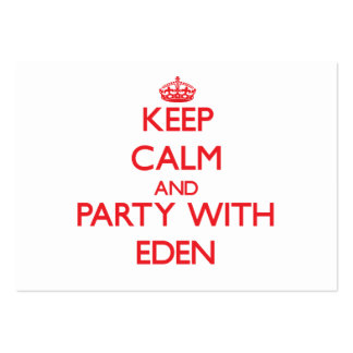 Keep Calm and Party with Eden Pack Of Chubby Business Cards