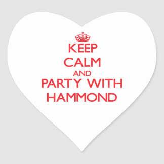 Keep calm and Party with Hammond Heart Stickers