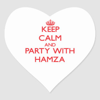 Keep calm and Party with Hamza Stickers