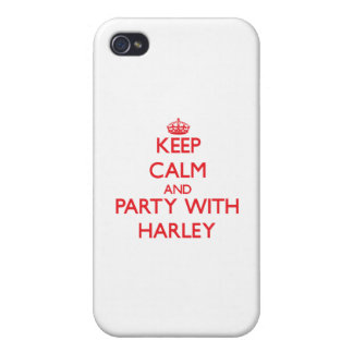 Keep calm and Party with Harley Covers For iPhone 4