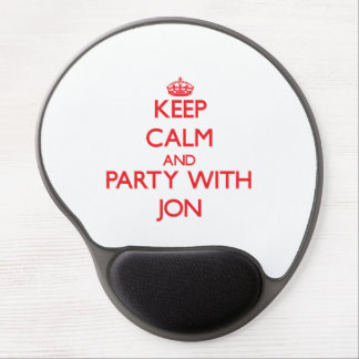 Keep calm and Party with Jon Gel Mouse Pad