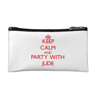 Keep calm and Party with Jude Cosmetic Bags