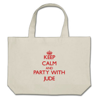Keep calm and Party with Jude Canvas Bags