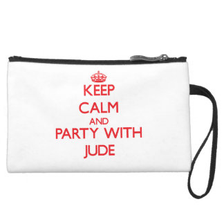 Keep calm and Party with Jude Wristlet Clutch