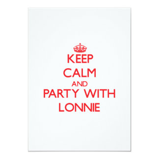 Keep calm and Party with Lonnie Personalized Invitation