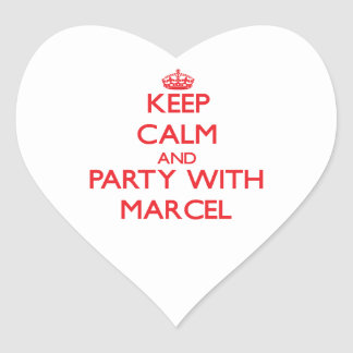 Keep calm and Party with Marcel Heart Sticker