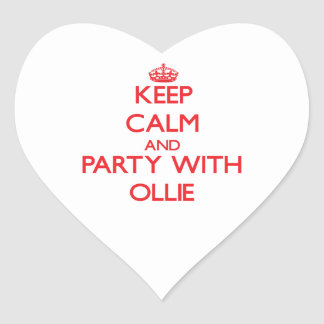 Keep calm and Party with Ollie Heart Stickers