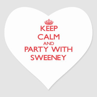 Keep calm and Party with Sweeney Sticker