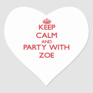 Keep Calm and Party with Zoe Stickers