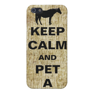 Keep Calm and Pet A Horse Cover For iPhone 5/5S