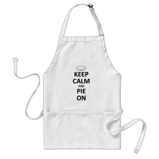 keep calm and pie on standard apron