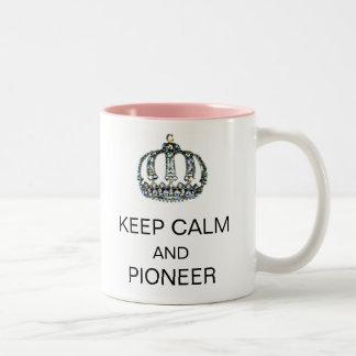 KEEP CALM AND PIONEER Two-Tone COFFEE MUG