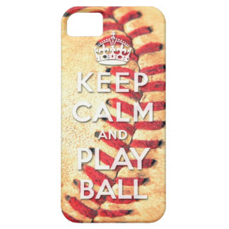 keep calm and play ball iPhone 5 cover