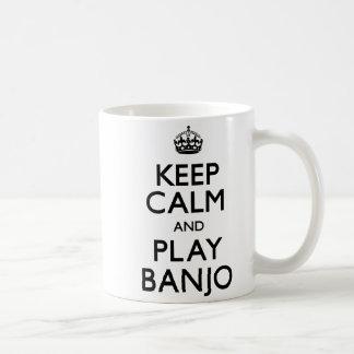 Keep Calm and Play Banjo (Carry On) Coffee Mug