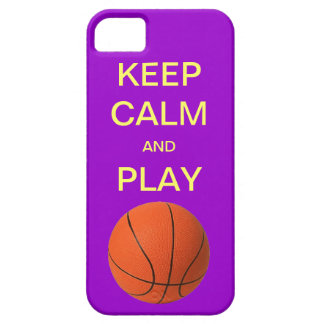 KEEP CALM AND PLAY BASKETBALL iPhone 5 Case