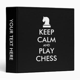 Keep Calm And Play Chess custom binder gift idea
