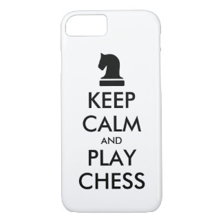 Keep Calm And Play Chess funny iPhone 7 case