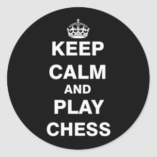 Keep Calm and Play Chess Round Sticker