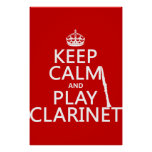 Keep Calm and Play Clarinet (any background Poster