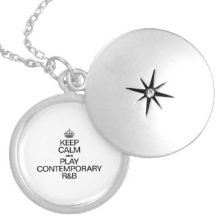 KEEP CALM AND PLAY CONTEMPORARY R&b Round Locket Necklace