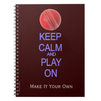 Keep Calm and Play cricket Notebook
