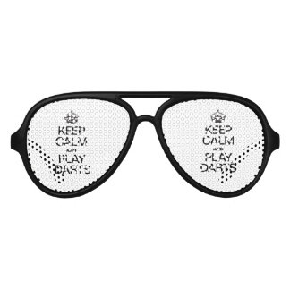 KEEP CALM AND PLAY DARTS AVIATOR SUNGLASSES