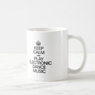 KEEP CALM AND PLAY ELECTRONIC DANCE MUSIC CLASSIC WHITE COFFEE MUG