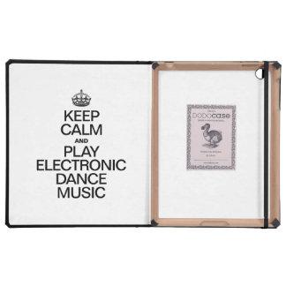 KEEP CALM AND PLAY ELECTRONIC DANCE MUSIC iPad FOLIO CASE