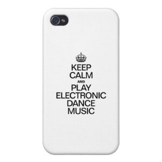 KEEP CALM AND PLAY ELECTRONIC DANCE MUSIC iPhone 4 CASE
