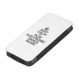 KEEP CALM AND PLAY ELECTRONIC DANCE MUSIC iPhone POUCH