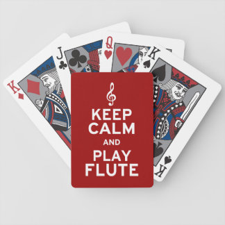 Keep Calm and Play Flute Bicycle Playing Cards