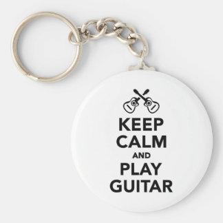 Keep calm and Play guitar Keychain